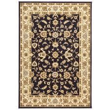 sydney classic turkish made oriental rug 150x80cm navy ivory