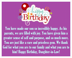 Happy Birthday Quotes For Daughter Delectable DaughterinLaw Happy Birthday Quotes And Greetings Happy Birthday