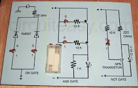 logic gates electronics project and circuit Ladder Logic Circuit Diagrams at Logic Gates Wiring Diagram