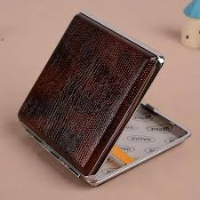 2019 a1454 hg604 leather cigarette case can hold 20 cigarettes men s high traffic portable authors fashion personality from kinyfe 19 93 dhgate com