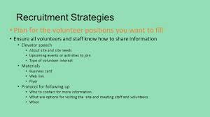 growing and guiding volunteer relationships management training 9 recruitment strategies