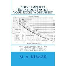 booktopia solve implicit equations inside your excel worksheet solve colebrook and other implicit equations in seconds by m a ar 9781452816197