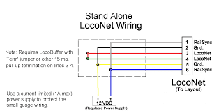 notebook figure 1 wiring schematic for stand alone loconet use