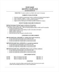 Welder Resume Classy Resume Objective Samples Welding And Welder Resume Template 48 Free