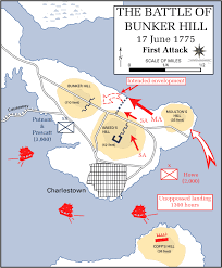 the battle of bunker hill the battle of bunker hill writework the first british attack on bunker hill shaded areas are hills