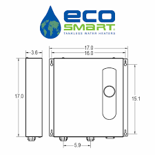 Ecosmart Tankless Water Heater Sizing Chart Ecosmart 27 Kw Self Modulating 5 3 Gpm Electric Tankless Water Heater