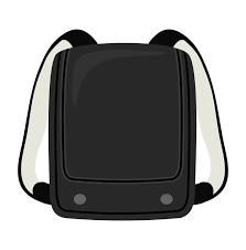 黒色のランドセルのイラスト 無料のフリー素材 イラストエイト