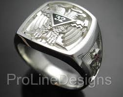 york rite rings. scottish rite 32nd degree double eagle ring in sterling silver ~ style 005 york rings