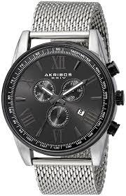 amazon com akribos xxiv men s ak813ssb black metal watch amazon com akribos xxiv men s ak813ssb black metal watch stainless steel mesh band watches