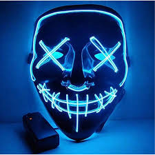 Led Light Up Mask Purge Pin On Geek Gifts