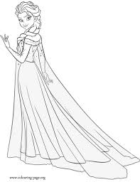 Small Picture Disney Princess Coloring Pages Frozen Elsa Coloring pages princess