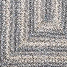 lovely grey braided rug on pewter jute country primitive