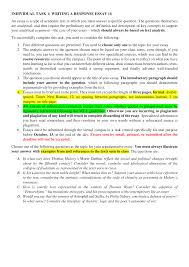 Analytical Response Essay Introduction Of Essay 1 Docsity