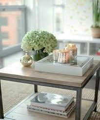 Image Tray Simple Coffee Table Centerpiece For Living Room Decorating With Flowers And Candles Lushome 20 Coffee Table Decoration Ideas Creating Wonderful Floral Centerpieces