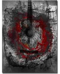 abstract acoustic guitar canvas wall art on guitar canvas wall art red with new savings on abstract acoustic guitar canvas wall art