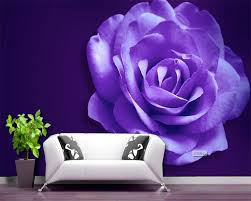 Purple Flower Wallpaper For Bedroom Online Buy Wholesale Purple Vintage Wallpaper From China Purple