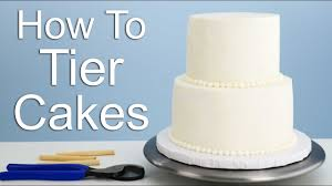 The Easiest Way To Tier A Cake Youtube