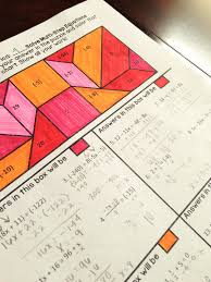 solve multi step equations coloring activity practice solving equations with distributive property variables on both sides combining like terms and all