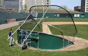 Baseball Portable - Movable Batting Cage use home plate-on the field \u2013 BATCO Cages