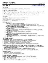 Exercise Science Resume Sample