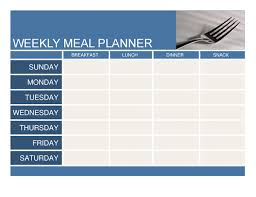 Weekly Meal Calendar Template Gallery - Template Design Free Download