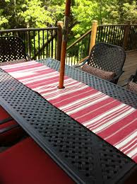 gallery of decor tips best red stripe outdoor tablecloths runner with umbrella with tablecloths for umbrella tables