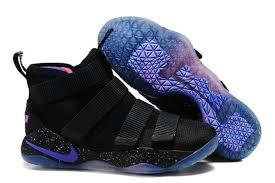 lebron purple shoes. famous brand nike lebron zoom soldier 11 black magic purple men\u0027s basketball shoes -