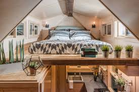Small Picture The loft bedroom of the Riverside house 246 sq ft tiny house on
