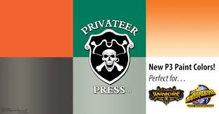 New P3 Paint Colors From Privateer Press
