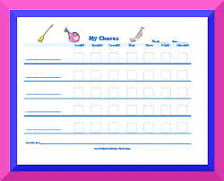 Free Chore List Charts Chore Charts Huge Variety Of Chore Charts To Download For