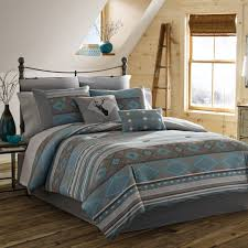 teal bed full and brown set next
