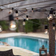 Impressive Commercial Patio Lights String With 24 Clear Outdoor Intended Creativity Design