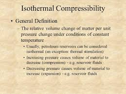 compressibility definition. isothermal compressibility definition c
