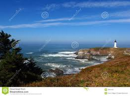 North Light The Way Yaquina Head Light House Stock Photo Image Of Security
