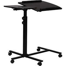 mainstays portable adjule le tilting stand cart desk for laptop computer