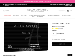 Check spelling or type a new query. Alloy Apparel Gift Card Balance Check Balance Enquiry Links Reviews Contact Social Terms And More Gcb Today
