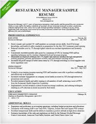 Resume Restaurant Manager 27 Most Useful Restaurant Manager Resume Template Free