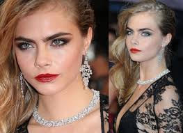 makeup with black dress cara