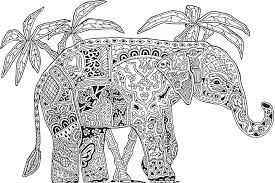 Abstract Elephant Coloring Pages For Adults