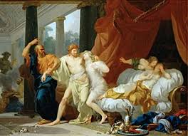 socrates socrates tears alcibiades from the embrace of sensual pleasure by jean baptiste regnault 1791