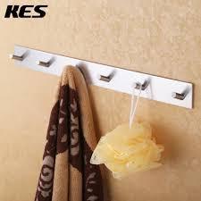 self adhesive coat hooks. Beautiful Self KES Bathroom Self Adhesive Coat And Robe Hook RackRail With 6 Hooks  Brushed SUS304 Stainless  To Hooks S