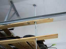 storages overhead garage door storage diy overhead garage shelf