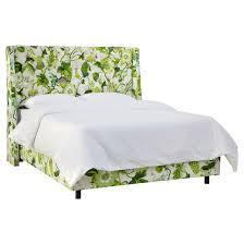 Archer Tufted Wingback Bed Grandiflora Jardin Twin Skyline
