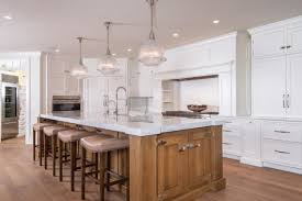 Pendant Lighting For Kitchen Island Rectangle Brown Wrectangle Brown Wooden Kitchen Island With Three