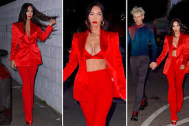 Megan fox and brian austin green had been married for ten years before green announced that the two were. Megan Fox Almost Bursts A Red Silk Bra When Celebrating His 35th Birthday With His Boyfriend Machine Gun Kelly Eminetra New Zealand