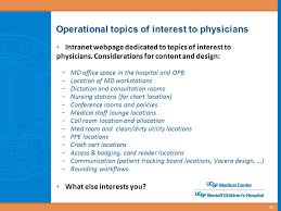 Ucsf Medical Center Mission Bay Operations Planning Clinical