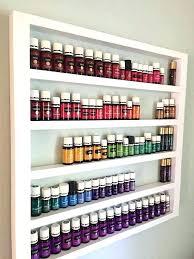 essential oils organizer oil storage shelf display rack nail polish wood hanging wall diy ra