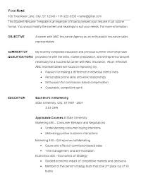 Simple Curriculum Vitae Template Resume Template Samples Of