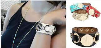 jane com engraved monogram leather cuff bracelet only 12 99 reg 39 99