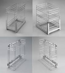 pull out wire cargo basket side front mounting kitchen larder storage cupboard